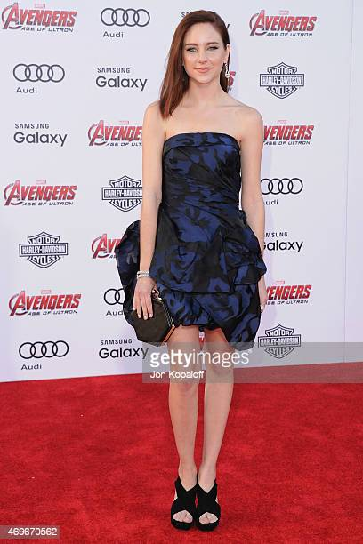 Actress Haley Ramm arrives at the Los Angeles Premiere Marvel's 'Avengers Age Of Ultron' at Dolby Theatre on April 13 2015 in Hollywood California