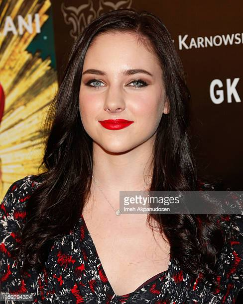 Actress Haley Ramm attends the Markus Indrani ICONS Book Launch Party at Merry Karnowsky Gallery on January 10 2013 in Los Angeles California