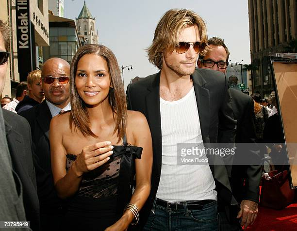 Actress Halle Berry and companion Gabriel Aubry attend a ceremony honoring her with a star on the Hollywood Walk of Fame April 3 2007 in Hollywood...