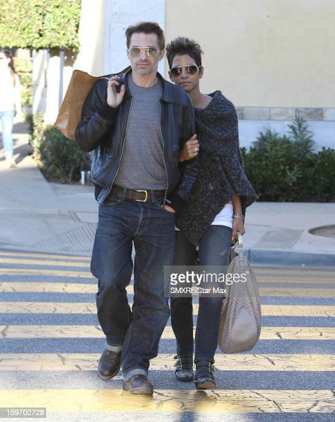 Actress Halle Berry and Olivier Martinez as seen on January 18 2013 in Los Angeles California