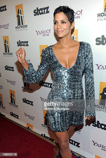 Actress Halle Berry arrives at the 14th annual Hollywood Awards Gala at The Beverly Hilton Hotel on October 25 2010 in Beverly Hills California