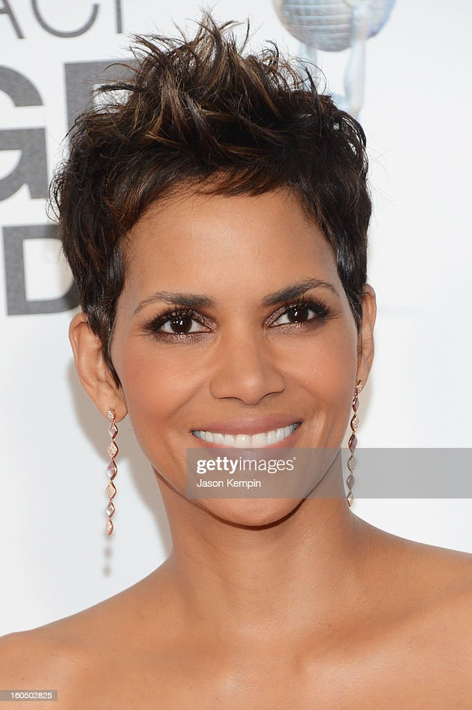 Actress Halle Berry arrives at the 44th NAACP Image Awards held at The Shrine Auditorium on February 1, 2013 in Los Angeles, California.