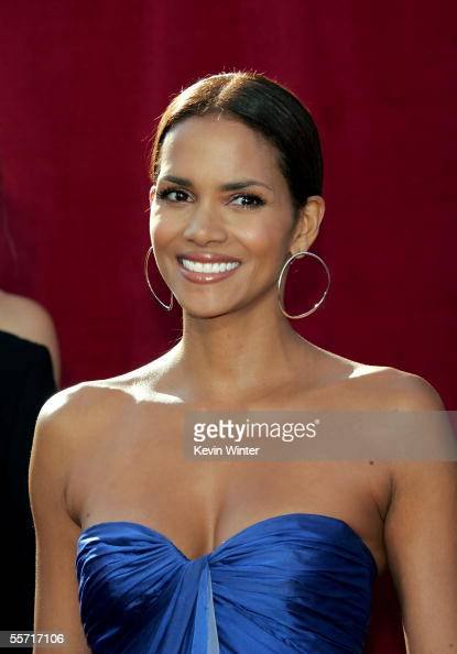Actress Halle Berry arrives at the 57th Annual Emmy Awards held at the Shrine Auditorium on September 18 2005 in Los Angeles California