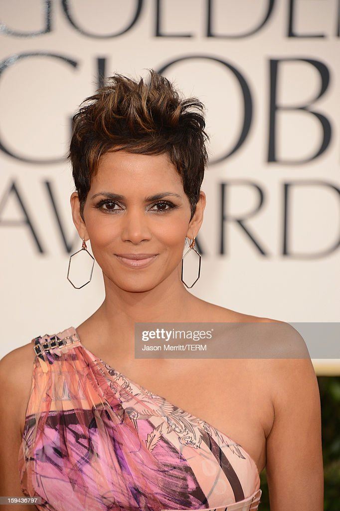 Actress Halle Berry arrives at the 70th Annual Golden Globe Awards held at The Beverly Hilton Hotel on January 13, 2013 in Beverly Hills, California.