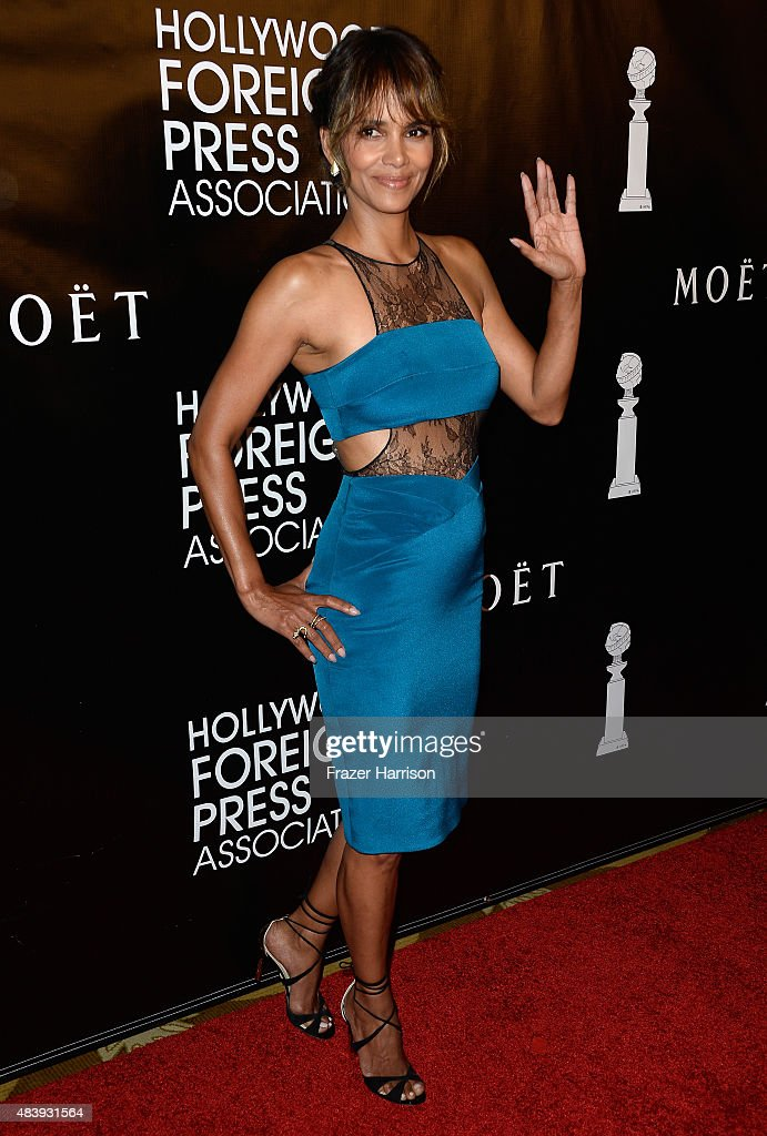 Actress Halle Berry arrives at the Hollywood Foreign Press Association Hosts Annual Grants Banquet at the Beverly Wilshire Four Seasons Hotel on August 13, 2015 in Beverly Hills, California.