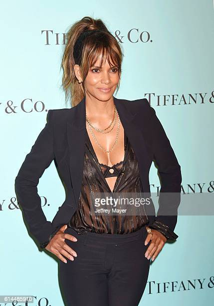 Actress Halle Berry arrives at the Tiffany And Co Celebrates Unveiling Of Renovated Beverly Hills Store at Tiffany Co on October 13 2016 in Beverly...
