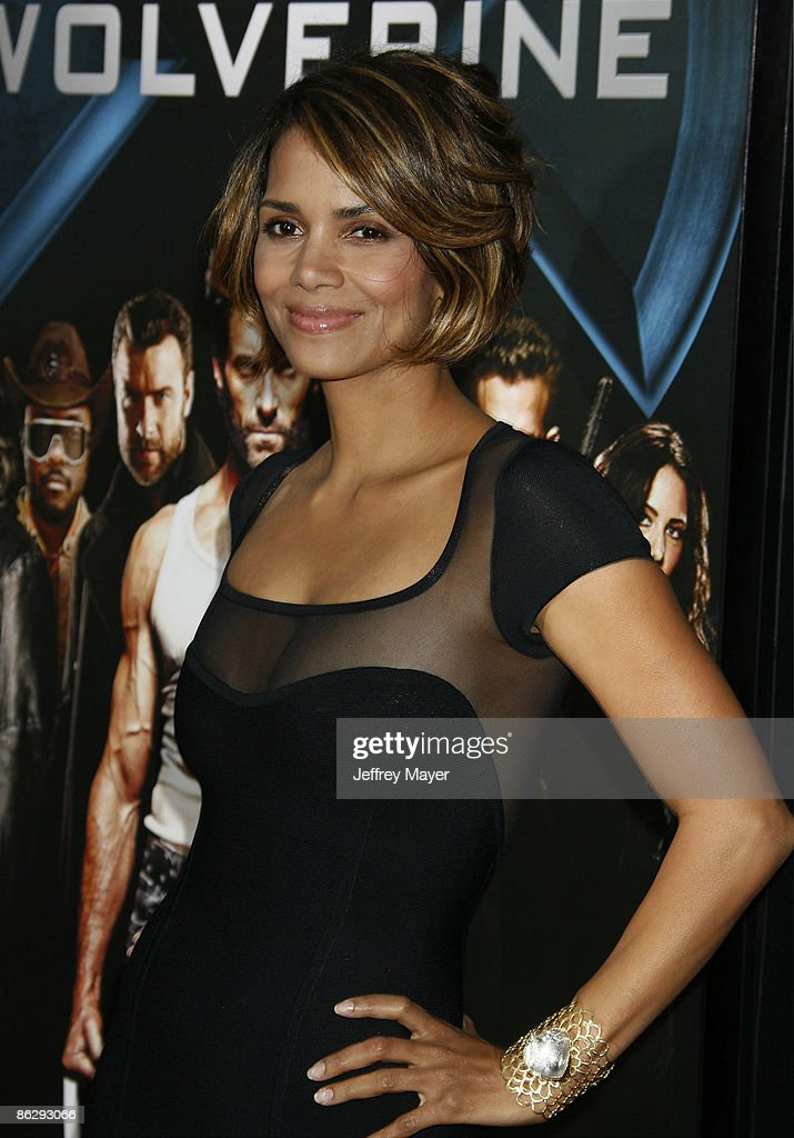 Actress Halle Berry arrives at 'X-Men Origins: Wolverine' Los Angeles Industry Screening at the Grauman's Mann Chinese Theater on April 28, 2009 in Hollywood, California.