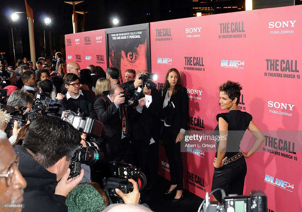 Actress <a gi-track='captionPersonalityLinkClicked' href=/galleries/search?phrase=Halle+Berry&family=editorial&specificpeople=201726 ng-click='$event.stopPropagation()'>Halle Berry</a> arrives for Tri Star Pictures' 'The Call' held at ArcLight Cinemasl on March 5, 2013 in Hollywood, California.