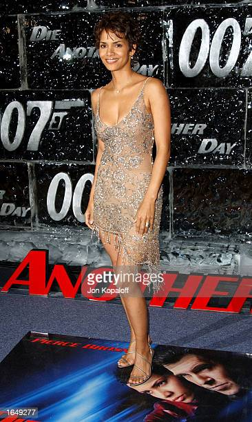 Actress Halle Berry attends a special screening of 'Die Another Day' on November 11 2002 in Los Angeles California The film opens in theaters...