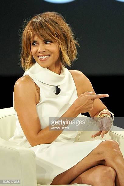 Actress Halle Berry attends AOL MAKERS Conference at Terranea Resort on February 2 2016 in Rancho Palos Verdes California
