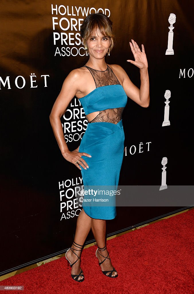 Actress <a gi-track='captionPersonalityLinkClicked' href=/galleries/search?phrase=Halle+Berry&family=editorial&specificpeople=201726 ng-click='$event.stopPropagation()'>Halle Berry</a> attends HFPA Annual Grants Banquet at the Beverly Wilshire Four Seasons Hotel on August 13, 2015 in Beverly Hills, California.