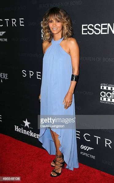 Actress Halle Berry attends 'Spectre' The Black Women of Bond tribute at the California African American Museum on November 3 2015 in Los Angeles...