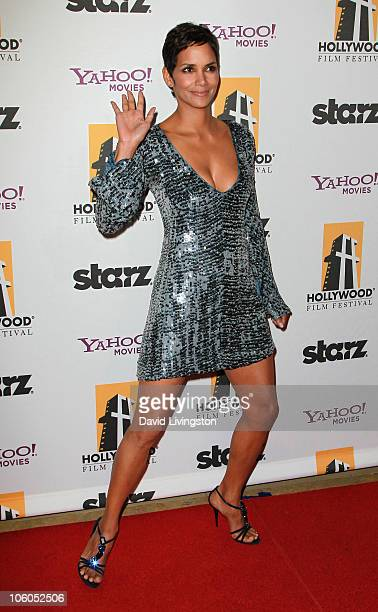 Actress Halle Berry attends the 14th annual Hollywood Awards Gala at The Beverly Hilton Hotel on October 25 2010 in Beverly Hills California