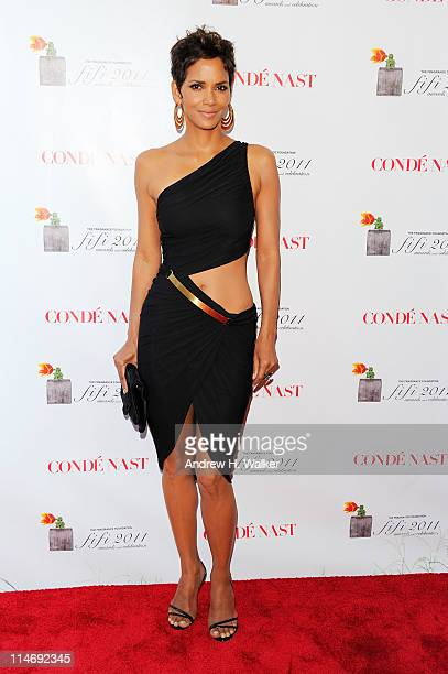 Actress Halle Berry attends the 2011 FiFi Awards at The Tent at Lincoln Center on May 25 2011 in New York City