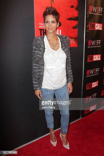 Actress Halle Berry attends 'The Call' red carpet screening hosted by the Woman's International Film Festival at Regal South Beach on February 26...