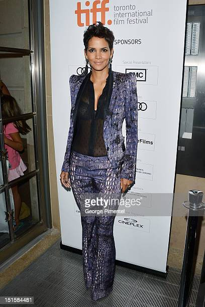 Actress Halle Berry attends the 'Cloud Atlas' premiere during the 2012 Toronto International Film Festival at the Princess of Wales Theatre on...