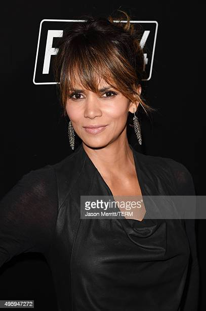 Actress Halle Berry attends the Fallout 4 video game launch event in downtown Los Angeles on November 5 2015 in Los Angeles California