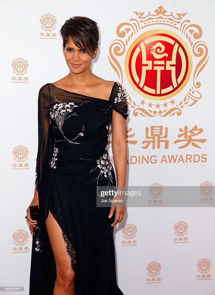 Actress <a gi-track='captionPersonalityLinkClicked' href=/galleries/search?phrase=Halle+Berry&family=editorial&specificpeople=201726 ng-click='$event.stopPropagation()'>Halle Berry</a> attends the Huading Film Awards on June 1, 2014 at Ricardo Montalban Theatre in Los Angeles, California. Huading Film Awards is China's #1 Film awards, in the U.S. for the first time.
