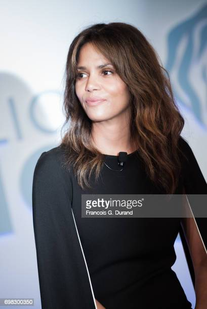 Actress Halle Berry attends the 'Tapping New Media To Connect with Fans and Their Passions' Seminar hosted by Interpublic during the Cannes Lions...