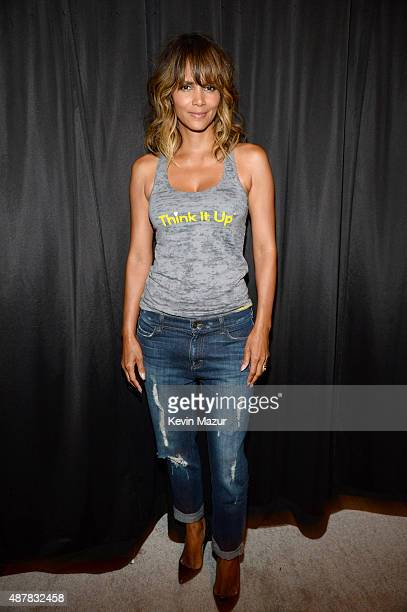Actress Halle Berry attends the Think It Up education initiative telecast for teachers and students hosted by Entertainment Industry Foundation at...