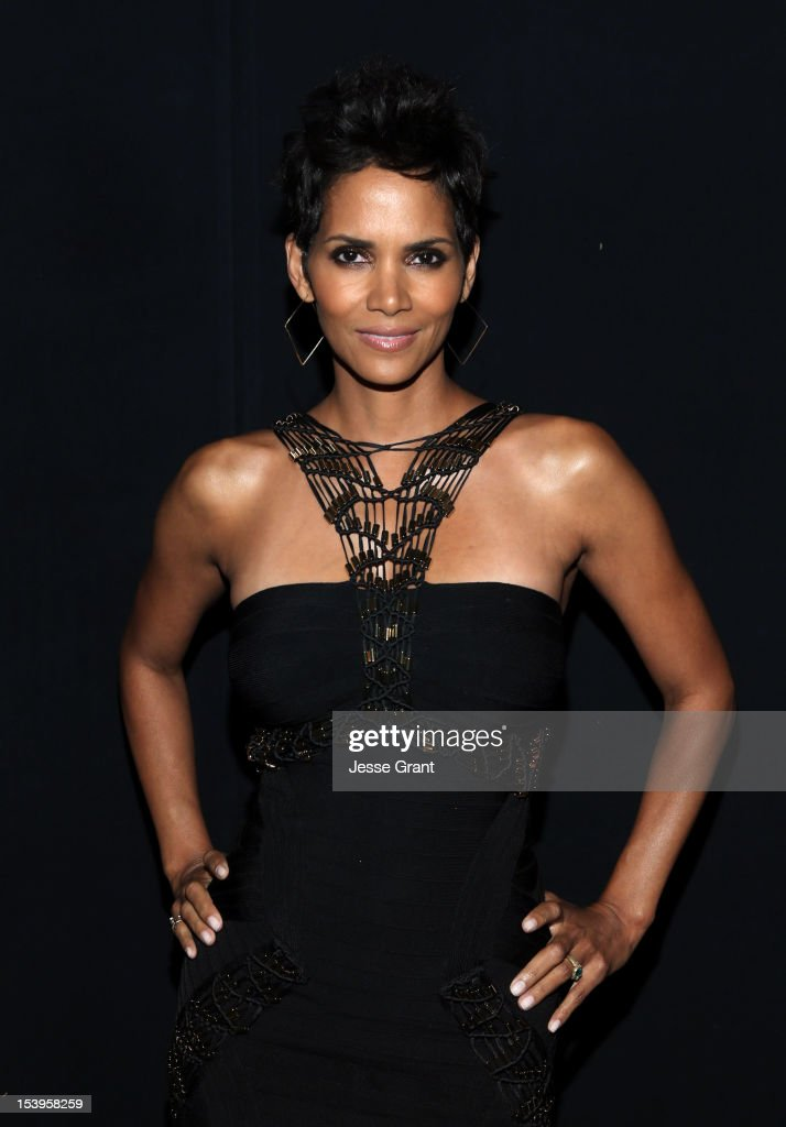 Actress <a gi-track='captionPersonalityLinkClicked' href=/galleries/search?phrase=Halle+Berry&family=editorial&specificpeople=201726 ng-click='$event.stopPropagation()'>Halle Berry</a> attends 'We Will Always Love You: A GRAMMY Salute to Whitney Houston' at Nokia Theatre L.A. Live on October 11, 2012 in Los Angeles, California.