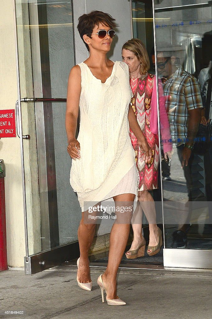 Actress Halle Berry is seen outside 'CBS Morning Show' on July 8, 2014 in New York City.