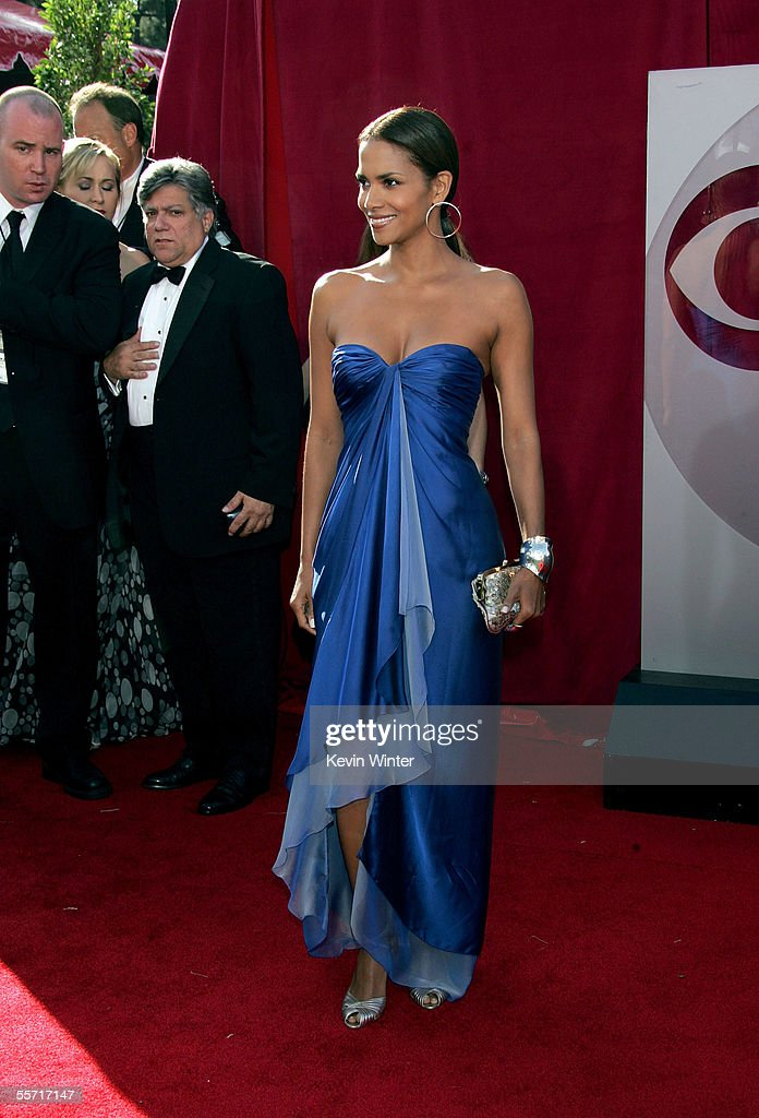 Actress Halle Berry nominated for Lead Actress in a Miniseries or Movie for ABC's 'Their Eyes Were Watching God' arrives at the 57th Annual Emmy...