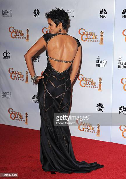 Actress Halle Berry poses in the press room at the 67th Annual Golden Globe Awards at The Beverly Hilton Hotel on January 17 2010 in Beverly Hills...