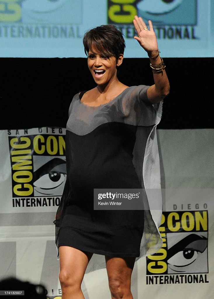 Actress Halle Berry speaks at the 20th Century Fox panel during Comic-Con International 2013 at San Diego Convention Center on July 20, 2013 in San Diego, California.