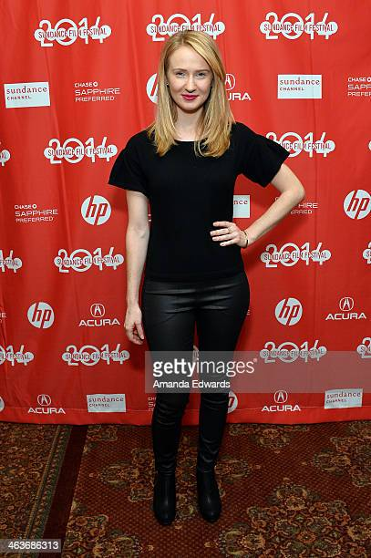 Actress Halley Feiffer attends the premiere of 'Appropriate Behavior' at the Yarrow Hotel Theater during the 2014 Sundance Film Festival on January...