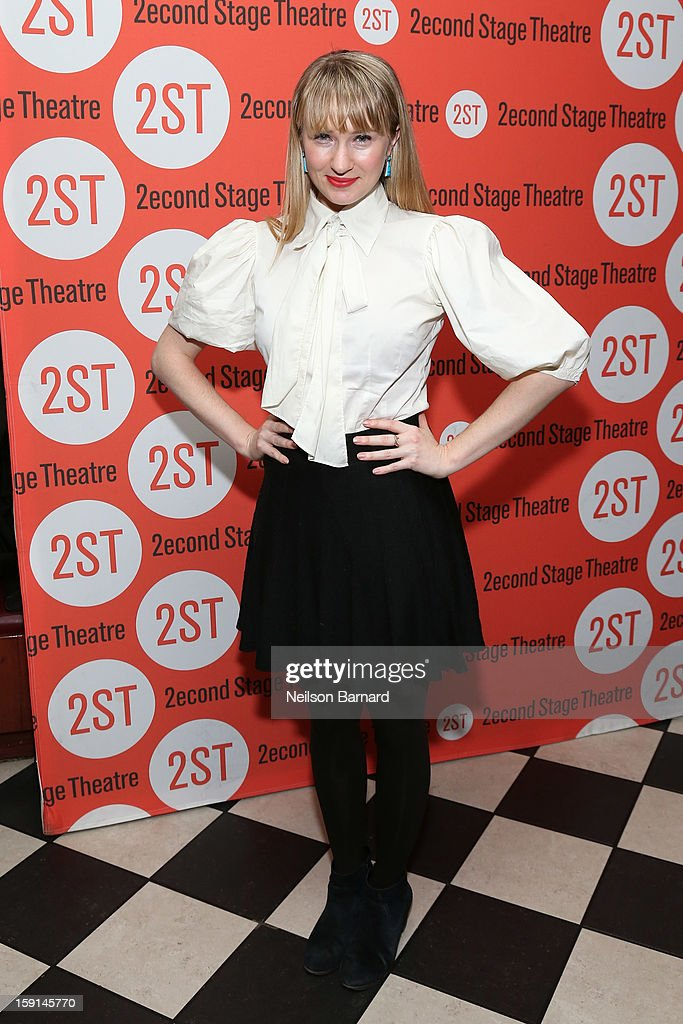 Actress <a gi-track='captionPersonalityLinkClicked' href=/galleries/search?phrase=Halley+Feiffer&family=editorial&specificpeople=2083909 ng-click='$event.stopPropagation()'>Halley Feiffer</a> attends the 'Water By The Spoonful' Opening Night Celebration at Dave & Buster's Time Square on January 8, 2013 in New York City.