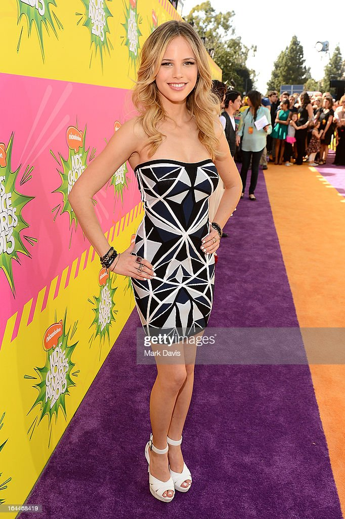 Actress Halston Sage arrives at Nickelodeon's 26th Annual Kids' Choice Awards at USC Galen Center on March 23, 2013 in Los Angeles, California.