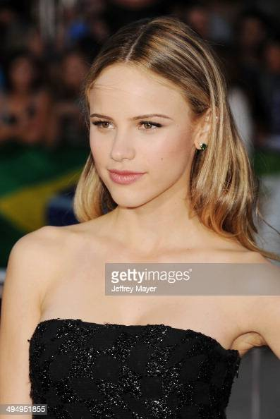 Actress Halston Sage arrives at the Los Angeles premiere of 'Neighbors' at Regency Village Theatre on April 28 2014 in Westwood California