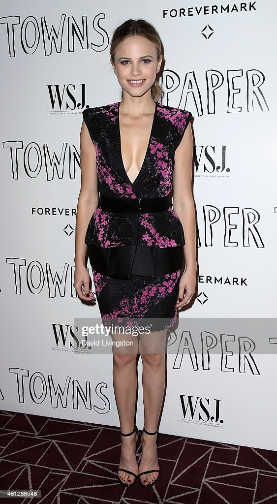Actress Halston Sage attends a screening of 20th Century Fox's 'Paper Towns' at the London West Hollywood on July 18 2015 in West Hollywood California