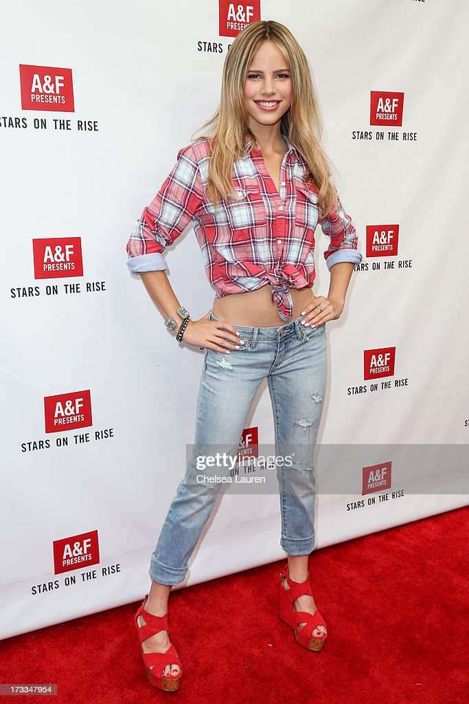 Actress Halston Sage attends Abercrombie & Fitch's 'Stars on the Rise' event at Abercrombie & Fitch on July 11, 2013 in Los Angeles, California.