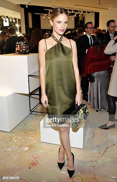 Actress Halston Sage attends Dior Lady Art Los Angeles Popup Boutique Opening Event on December 6 2016 in Beverly Hills California