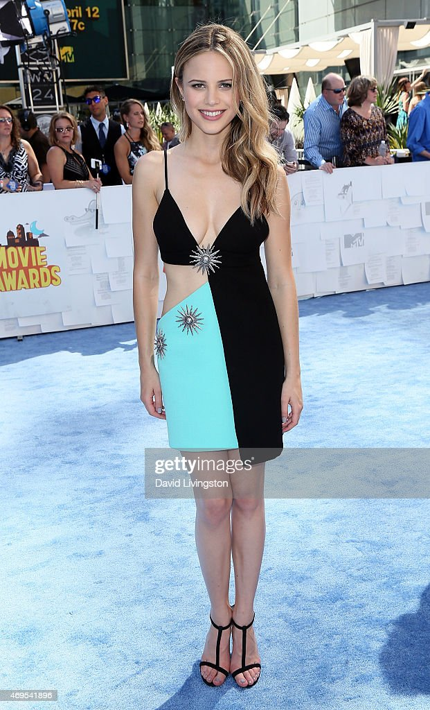 Actress Halston Sage attends the 2015 MTV Movie Awards at the Nokia Theatre LA Live on April 12 2015 in Los Angeles California