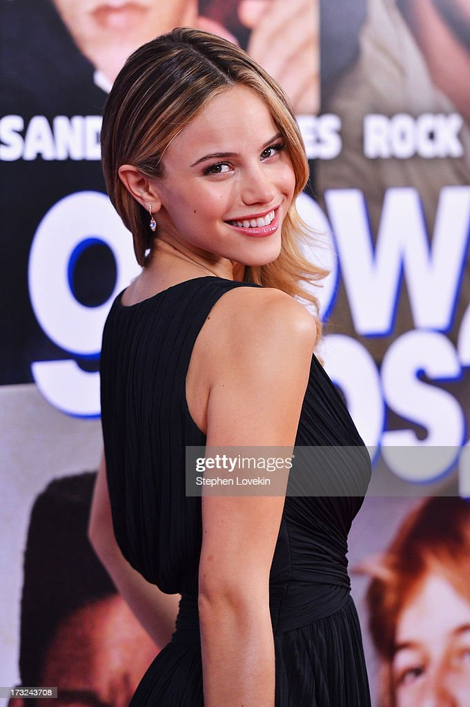 Actress <a gi-track='captionPersonalityLinkClicked' href=/galleries/search?phrase=Halston+Sage&family=editorial&specificpeople=7986408 ng-click='$event.stopPropagation()'>Halston Sage</a> attends the 'Grown Ups 2' New York Premiere at AMC Lincoln Square Theater on July 10, 2013 in New York City.