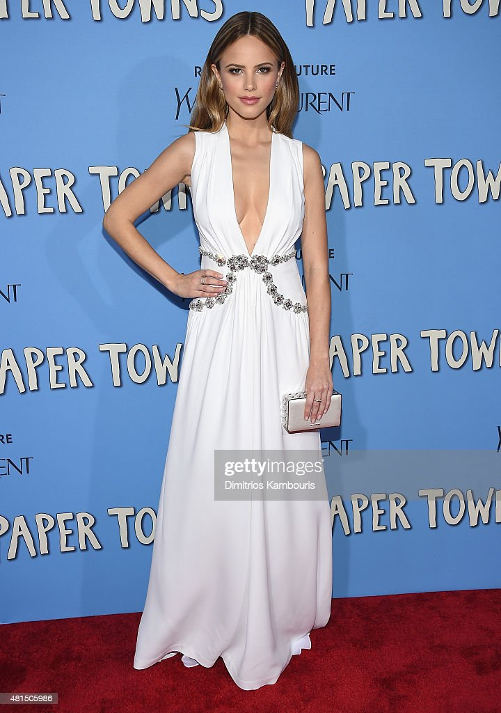 Actress Halston Sage attends the 'Paper Towns' New York Premiere at AMC Loews Lincoln Square on July 21 2015 in New York City