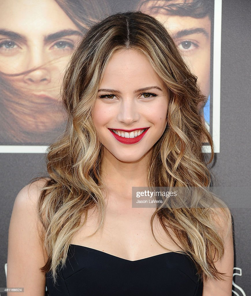 Actress Halston Sage attends the 'Paper Towns' QA and live concert at YouTube Space LA on July 17 2015 in Los Angeles California