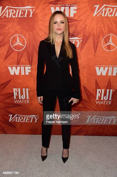 Actress Halston Sage attends the Variety and Women in Film Annual PreEmmy Celebration at Gracias Madre on September 18 2015 in West Hollywood...