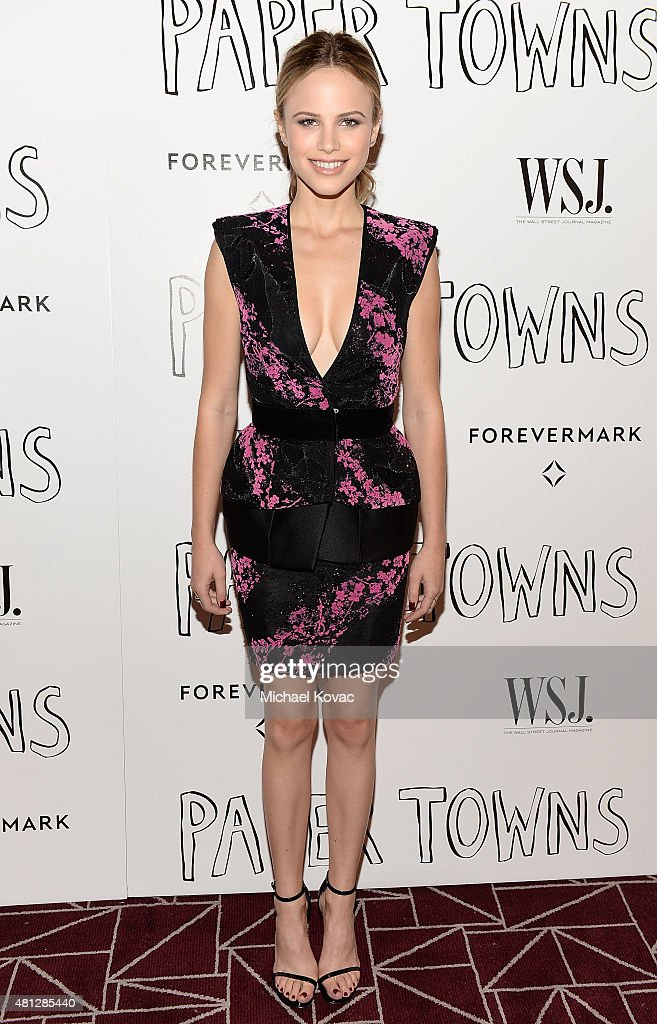 Actress Halston Sage attends WSJ Magazine And Forevermark Host A Special Los Angeles Screening Of 'Paper Towns' at The London West Hollywood on July...