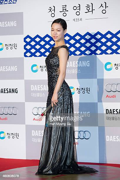 Actress Han YeRi attends The 35th Blue Dragon Film Awards at Sejong Center on December 17 2014 in Seoul South Korea