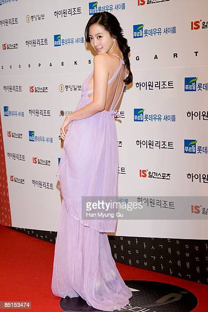 Actress Han YeSeul attends the 45th PaekSang Art Awards at the Olympic Hall on February 27 2009 in Seoul South Korea