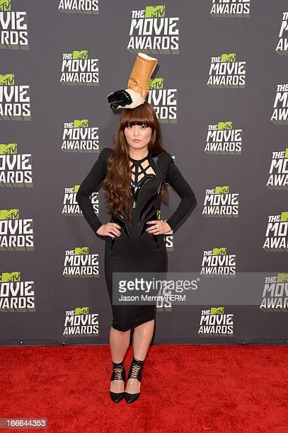 Actress Hana Mae Lee arrives at the 2013 MTV Movie Awards at Sony Pictures Studios on April 14 2013 in Culver City California