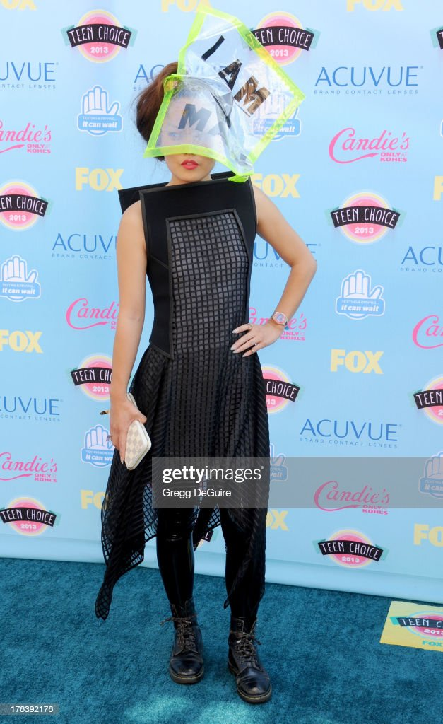 Actress Hana Mae Lee arrives at the 2013 Teen Choice Awards at Gibson Amphitheatre on August 11, 2013 in Universal City, California.