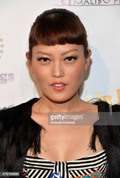 Actress Hana Mae Lee arrives at the Los Angeles special screening of 'Ur In Analysis' at the Egyptian Theatre on July 1 2015 in Hollywood California