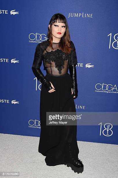 Actress Hana Mae Lee attends the 18th Costume Designers Guild Awards at The Beverly Hilton Hotel on February 23 2016 in Beverly Hills California