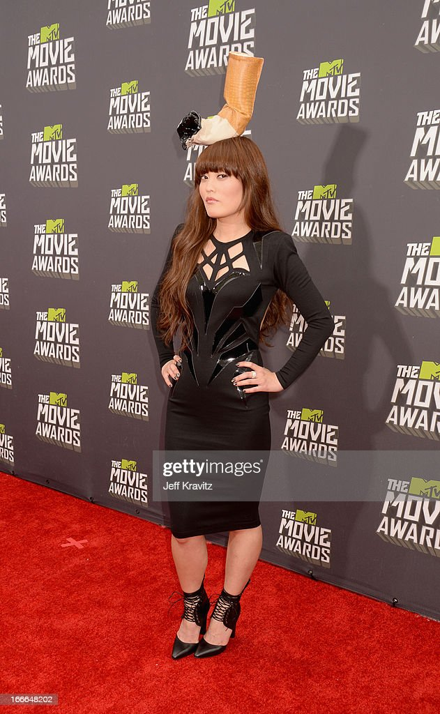 Actress Hana Mae Lee attends the 2013 MTV Movie Awards at Sony Pictures Studios on April 14, 2013 in Culver City, California.