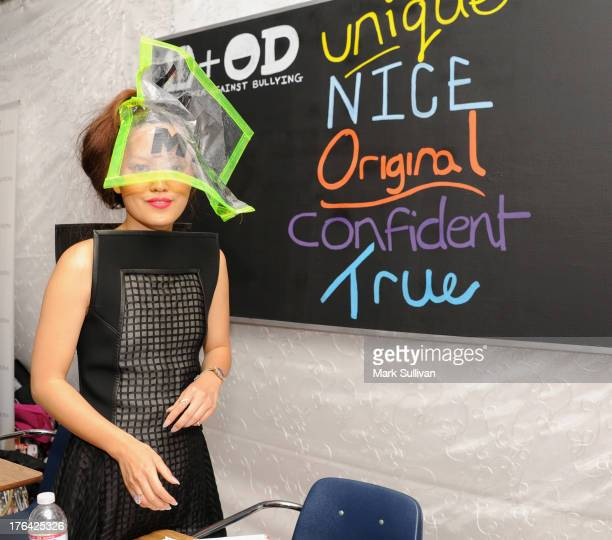 Actress Hana Mae Lee attends the Backstage Creations Celebrity Retreat At Teen Choice 2013 at Gibson Amphitheatre on August 11 2013 at Gibson...